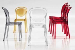 Прозрачные стулья из поликарбоната — изделия высокого качества