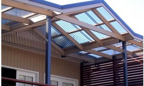Как сделать крышу для поликарбоната