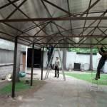 Фото: Монтаж поликарбонатной конструкции