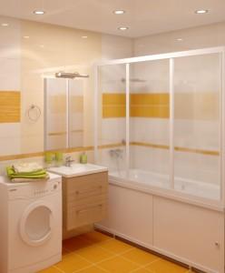 Шторки для ванной из поликарбоната — надежная защита от брызг