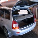 Фото: Перевозка поликарбоната на багажнике