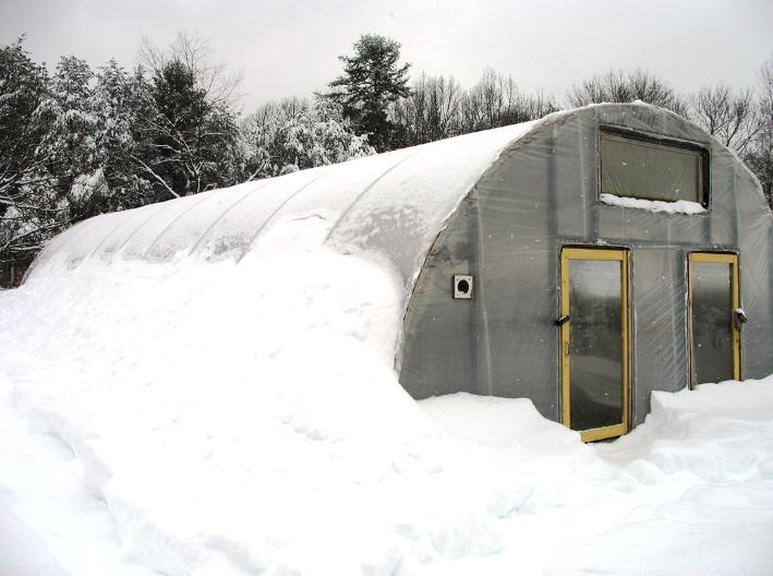 зимняя теплица постройка