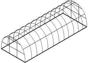 На фото: каркас длиной 8 м