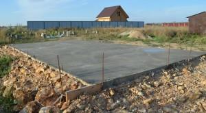 Фото: Бетонная стяжка для площадки