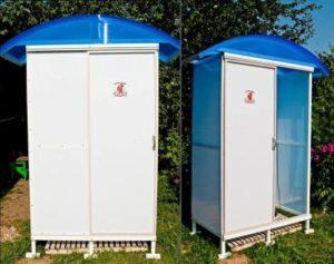 Как построить душ на даче своими руками из поликарбоната?